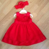 Детское платье Carter's с повязкой и трусиками