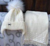 Шапка зимняя+шарф