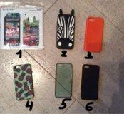 Чехлы и плёнки на iPhone 5/5s новые