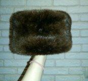 Меховая шапка из меха нутрии