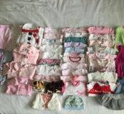 Детская одежда пакетом более 40 вещей