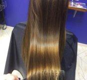 Коллагеновое обертывание и полировка волос