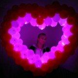 Светящееся сердце из шариков