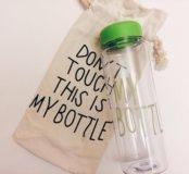 Бутылка Don't touch my bottle, зелёная