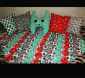 Одеяло бон бон (зифирное) и подушки