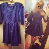 Платье синее яркое