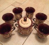 Чайный сервис глиняный