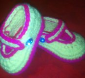 Туфельки вязаные