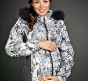 зимнее пальто для беременных б/у 2 мес. Размер 44.