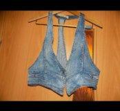 Желетка джинсовая