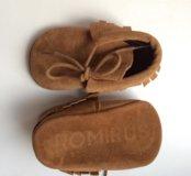Ботиночки пинетки моксы