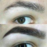 Оформление и покраска бровей профессиональной хной