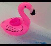 Розовый фламинго надувной новый
