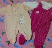 👭💐Два пакета одежды на малышку от 0 до 4 мес.🍭