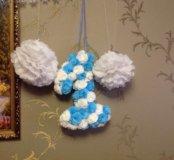 1 -30 см + 2 белых шарика