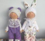 Интерьерные куклы пупсы