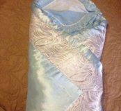 Зимнее одеяло на выписку с уголком