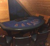 Игральный стол для казино 4 стула