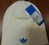 Новая белая шапка Adidas унисекс