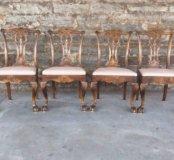 Четыре старинных стула из Европы чиппендейл