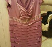 Атласное  платье 52