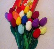 Вязаные тюльпаны.