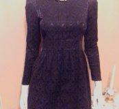 Жаккардовое платье черное