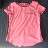Блузка розовая свободная,44-46 размер