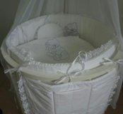 Постельное в круглую кровать 12 предметов