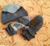 шапочка и горнолыжные варежки