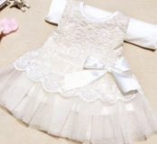 Белое кружевное платье для малышки
