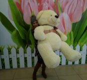 Мягкий медведь полутораметровый
