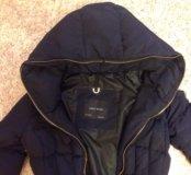 Куртка Zara basic, s темно синяя
