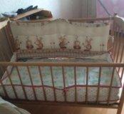 """Кроватка детская """"фея"""" на колёсиках"""
