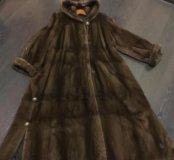 Шуба норковая светло/коричневая в пол