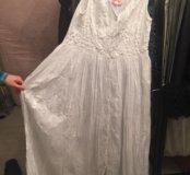Платье в пол хлопок новое