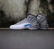 Air Jordan 12 Grey/University Blue