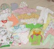 Вещи на девочку пакетом  56-68