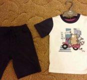 Новый летний комплект(футболка+шорты)mothercare98