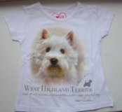 Новая футболка West Highland White Terrie