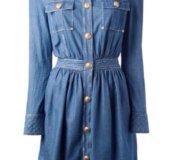 Новое джинсовое платье BALMAIN