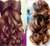 Бант из волос с локонами