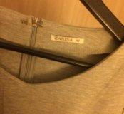 абсолютно новое серое платье zarina