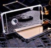 Чехол для iPhone 7 зеркальный серебристый