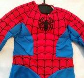 Костюм человека паука с маской и мускулами