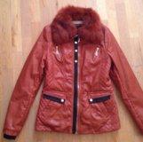 Куртка женская из мягкой искусственной кожи