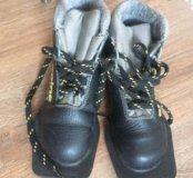 Лыжные ботинки, размер 30