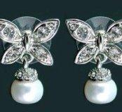 Гвоздики с кристаллами Swarovski