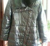 Новое стеганное пальто осень