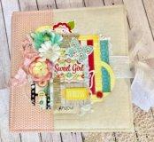 Яркий, солнечный, цветочный фотоальбом для девочки